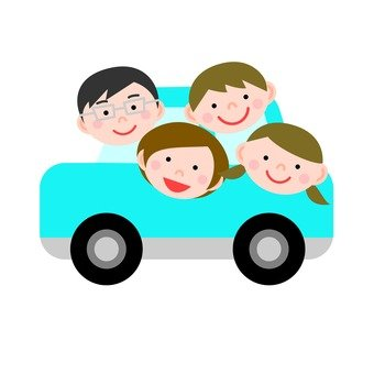 Go out with family / car