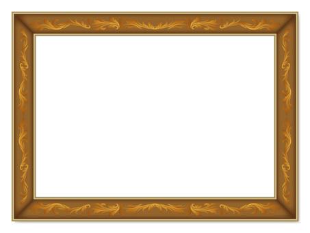 Frame _ ornament - anusal gold