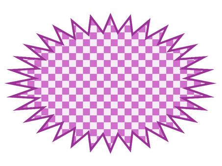 Explosion purple checker frame