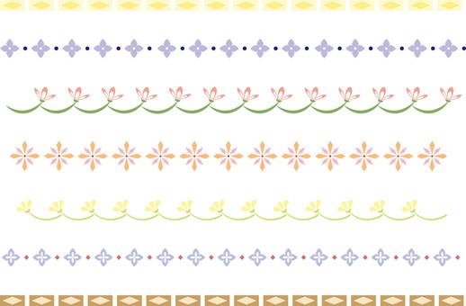 Simple decorative border 3 color