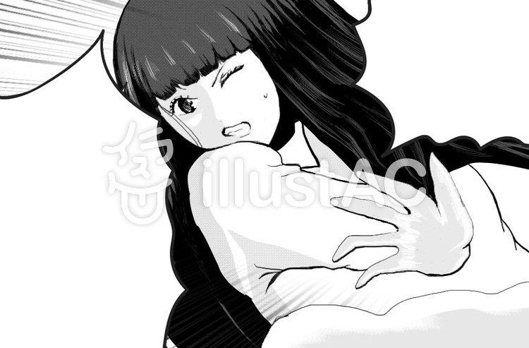 漫画イラスト 女の子叫ぶ イラスト No 無料イラストなら イラストac