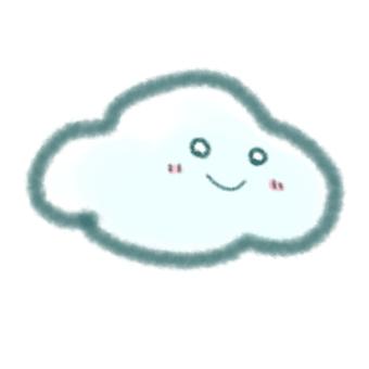 Cute picture book-like clouds