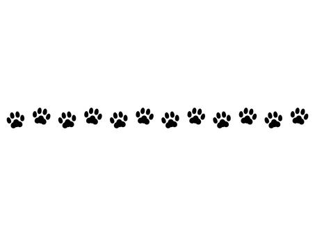 Cat footprint decoration line monochrome