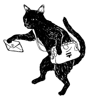 Black cat monochrome