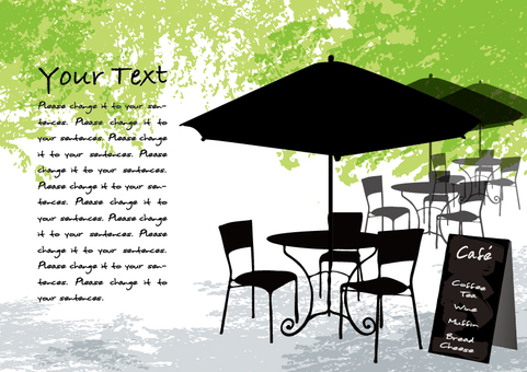 Fresh green cafe 2 message card