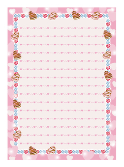 Sparkling stationery (Heart)