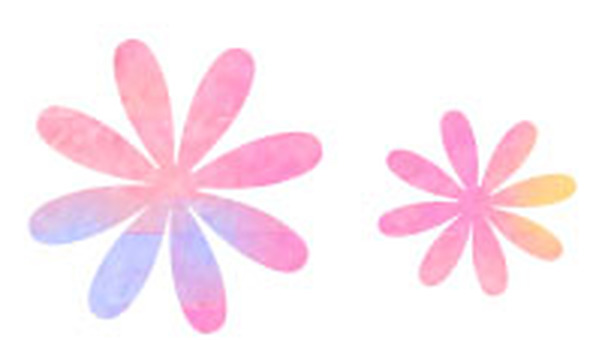 水彩花粉紅色
