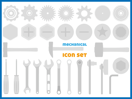 Icon set _ Mechanical
