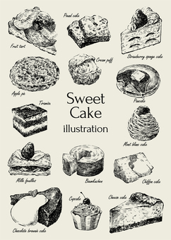Sweet cake illustration