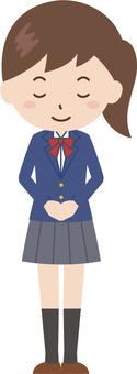 Girls | High School Students | Uniform | Bow