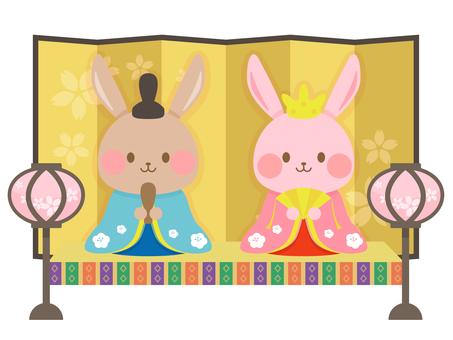 Hare dolls of rabbits