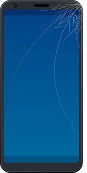 Smartphone screen glass cracks