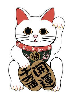 Beckoning cat white