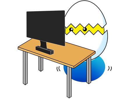 Desk work on the ball