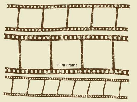 Grunge film frame (sepia)