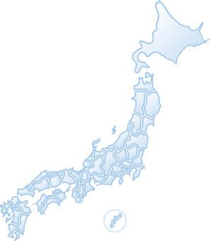 Japan map water