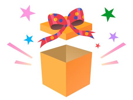 Present opening pleasure material box gift
