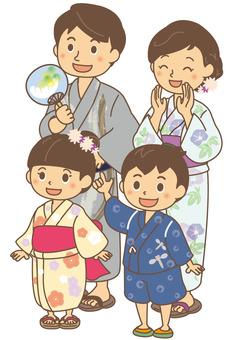 Summer Family Yukata