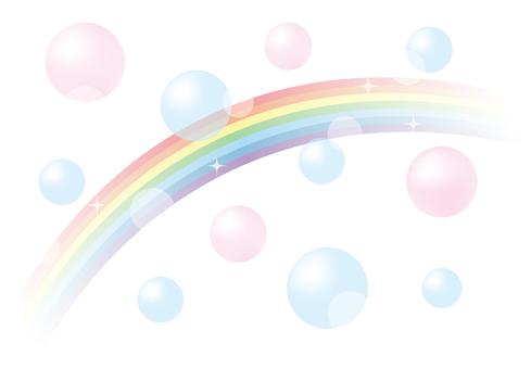 Rainbow and Soap Bubble