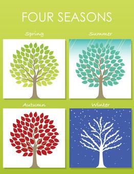 Four-piece set of four seasons