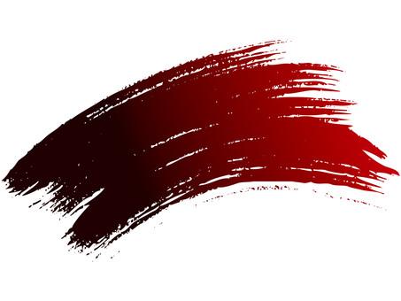 Brush line (curve · red → black)
