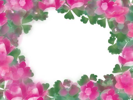 Ring-ring (odamaki) flower frame