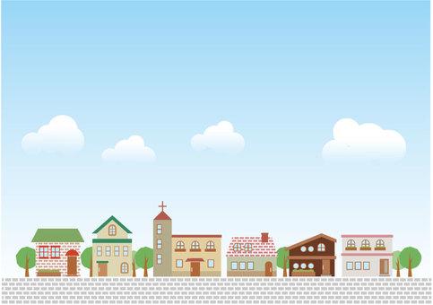 Illustration of the city street 14