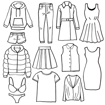 Black and white clothes set