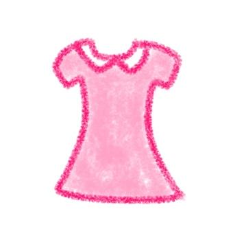 Pink one piece illustration