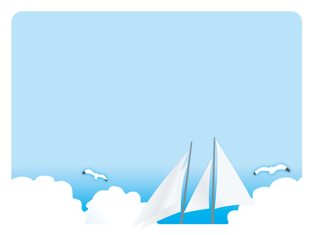 Background frame (16) Sailing by yacht