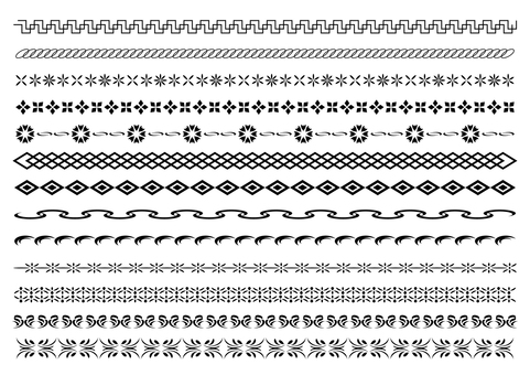 22-line, decorative rule set 5 monochrome