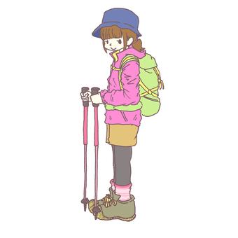 登山的女孩