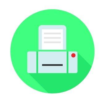 Flat icon - printer