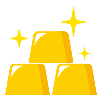 Gold pure gold property icon