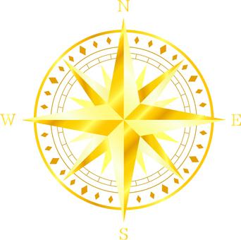 Orientation mark _ gold · white