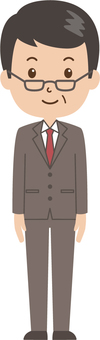 Middle-aged man | salaried worker | suits | standing