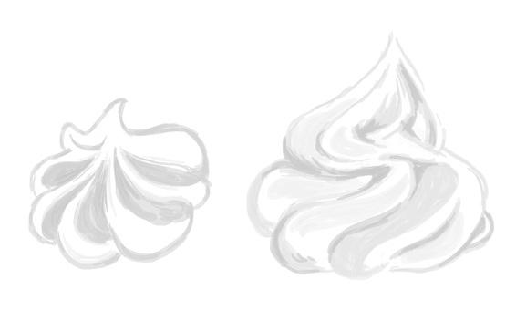 ホイップクリーム(斜め上から・横から)