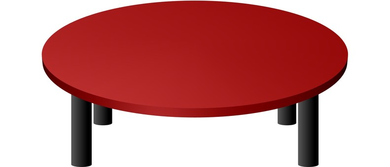 Round table (red)