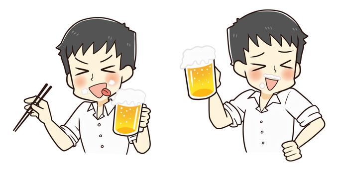 ビール美味しい!(Yシャツバージョン)