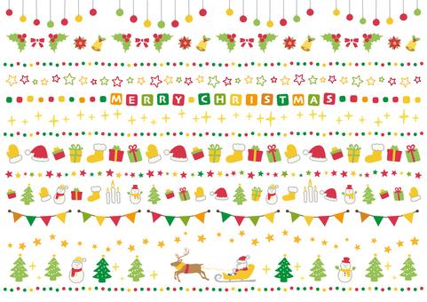 メリークリスマス【飾り罫線】