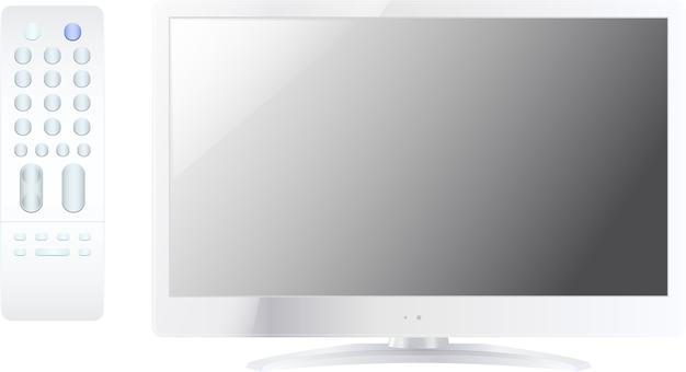 LCD TV · Remote control set white