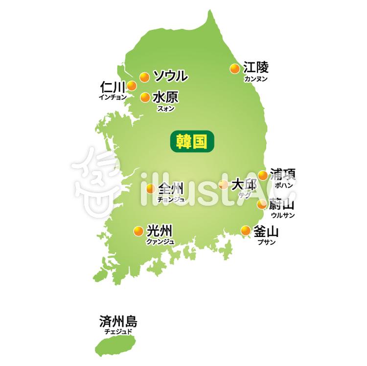 韓国地図イラスト No 516278無料イラストならイラストac