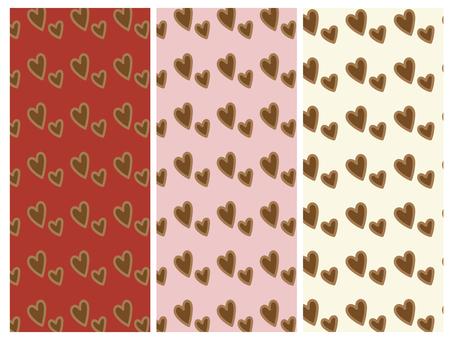 Heart pattern material set