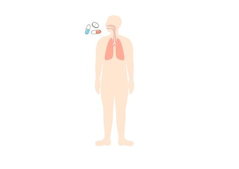 Oral medicine lung