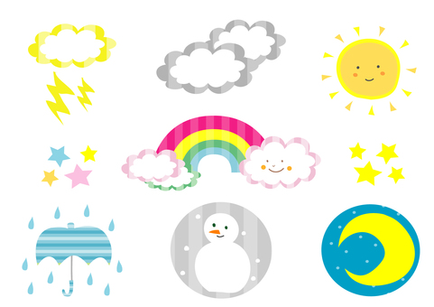 Coloring weather forecast (no border line)