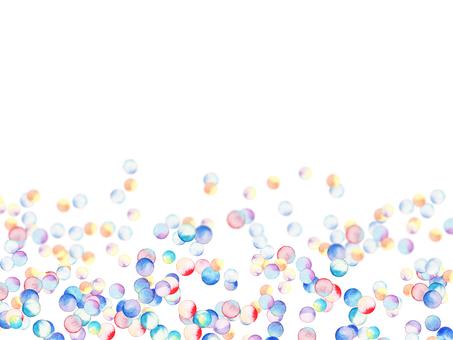 Polka dot watercolor frame