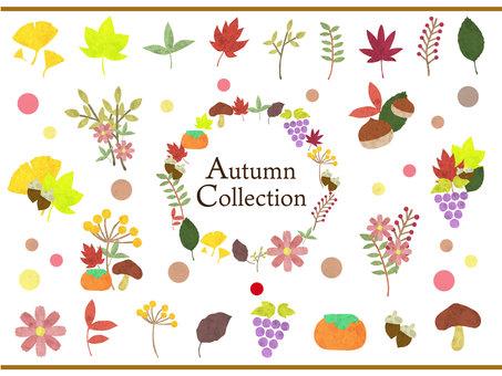秋のイメージイラスト集