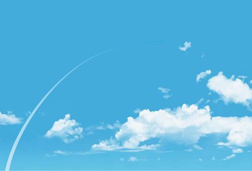 Fresh blue sky