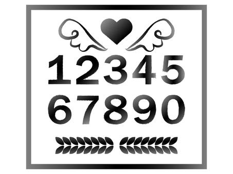 Number set white