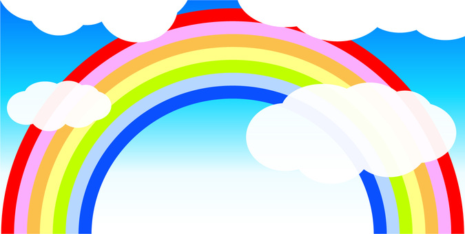 Rainbow and clouds 01